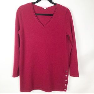 J. Jill wool/cashmere blend tunic length sweater
